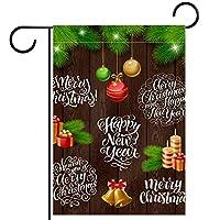 ガーデンフラッグ両面印刷防水ベクトルクリスマス 庭、庭の屋外装飾用