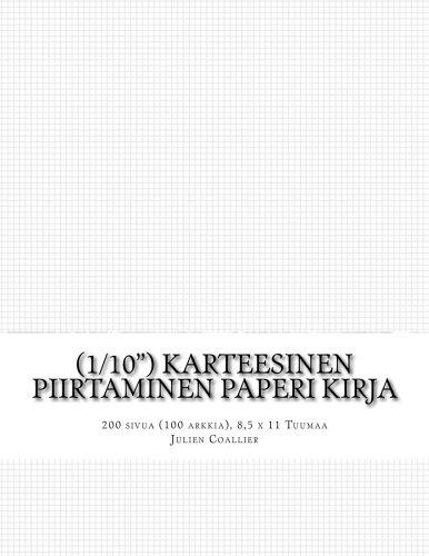 (1/10') Karteesinen Piirtaminen Paperi Kirja: 200 sivua (100 arkkia), 8,5 x 11 Tuumaa