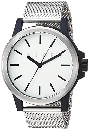 neff Chinese-Automatic Sport Watch with Alloy Strap, Silver, 22 (Model: SVBKNF0251)