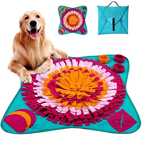 Tonsooze Snuffle Mat para Perros, Alfombra de Actividades para Mascotas, Alfombra Olfato Perro Mascotas Perros tapete de Entrenamiento rompecabezas Juguetes de alimentación Bowl