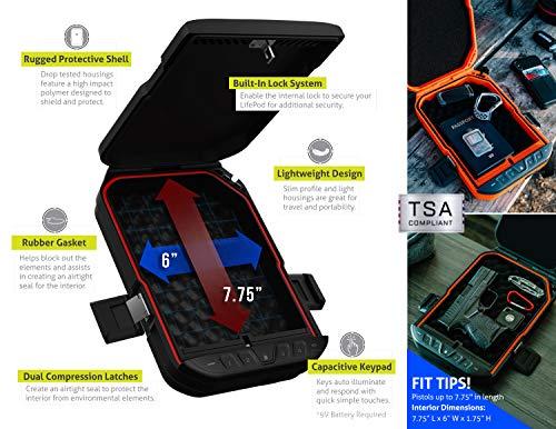 VAULTEK LifePod Secure Waterproof Travel Case Rugged Electronic Lock Box Travel Organizer Portable Handgun Case with Backlit Keypad (Olive Drab)