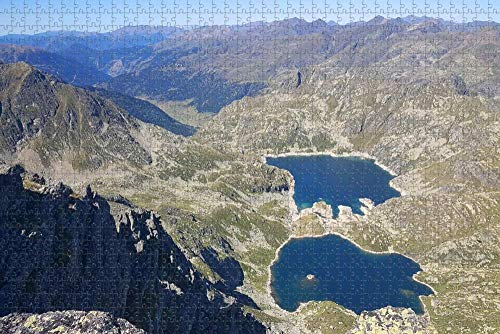 Rompecabezas para Adultos Andorra Tristaina Lago Arinsal Puzzle 1000 Piezas Recuerdo de Viaje de Madera
