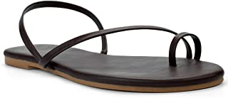 LAMHER Women's Toe Ring Strappy Sandal
