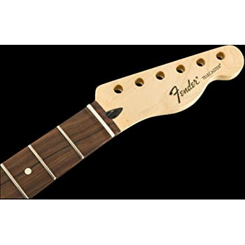 Halsplatte Vintage-Style F Logo Fender in Chrom für E-Gitarre