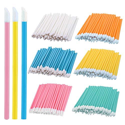 Gobesty Einweg Lippenpinsel Stick, 600 Stück Premium Micro-Applikatoren Bürsten Bürsten Lippenstift Gloss Zauberstäbe Applikator Make-up Tool-Kits für Make-up, Oral und Sauberkeit (6 Farbe)