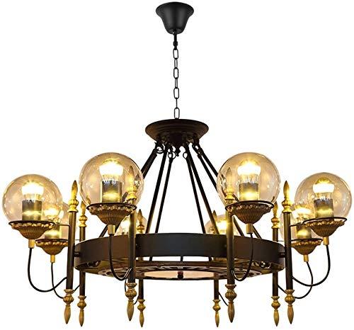 Duurzame Kroonluchters Amerikaanse Retro Kroonluchter, Nordic Industrial Creatieve Persoonlijkheid LED Slaapkamer Plafond lamp, Kleding Winkel Restaurant Decoratie Hanglampen Hanglampen (Maat: 95 * 60cm),