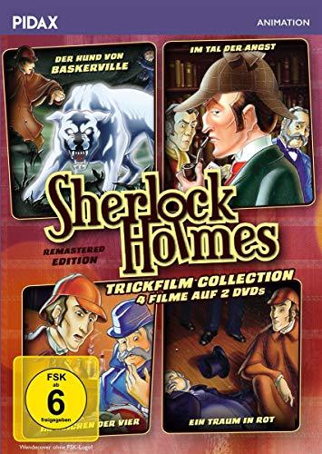 Sherlock Holmes Trickfilm Collection / 4 spannende Filme nach den Romanen von Sir Arthur Conan Doyle (Pidax Animation) [2 DVDs]