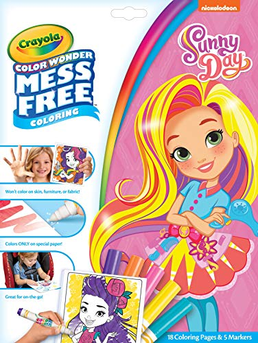 Crayola Wonder Sunny Day Coloring Pages, Mess Free, Gift for Kids