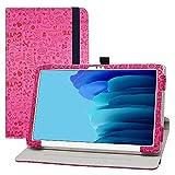 LFDZ Funda Samsung Galaxy Tab A7,Cuero Sintético Rotación de 360 Grados de Función de Soporte para 10.4' Samsung Galaxy Tab A7 10.4 (2020) T500 T505 Tablet(Not Fit Other Models),Magenta