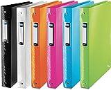 ELBA 400060100 Kunststoff-Ringbuch Art 10er Pack mit 4cm Rückenbreite und 4 Ringen zum Abheften von A4 Dokumenten, in 6 Farben