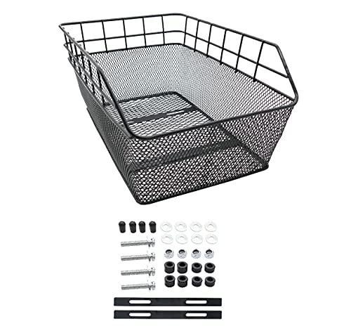 P4B | Hinterradkorb Schultaschenkorb - Schwarz | Fahrradkorb für Gepäckträger | Festmontage | Mit Befestigungsmaterial
