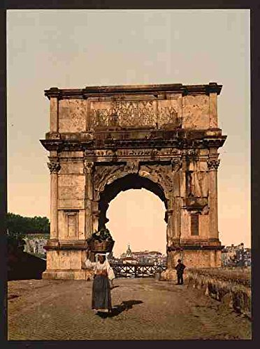 Muestra del Metal del arco del Triunfo de Tito Roma A4 12X8 Impresión de aluminio