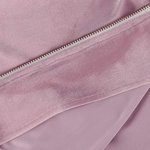 KOOSUFA Women Velour Velvet Tracksuit Casual Sportwear Loungewear Joggers Set Zipper Sport Gym Jogging Suit 2 Piece with Pockets UK 6 8 10 12 14 16 (6, Pink)