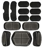 13 almohadillas tácticas para casco, almohadillas de espuma para airsoft paintball, accesorios de repuesto para casco de motocicleta, adecuado para almohadillas de casco rápidas/Mich/ACH/USMC/PASGT