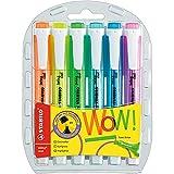 Textmarker - STABILO swing cool - 6er Pack - mit 6 verschiedenen Farben