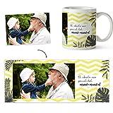 Fotoprix Taza Personalizada con Foto para Abuelo o Abuela | Regalo Original día del Abuelo | Varios diseños Disponibles (Abuelo)