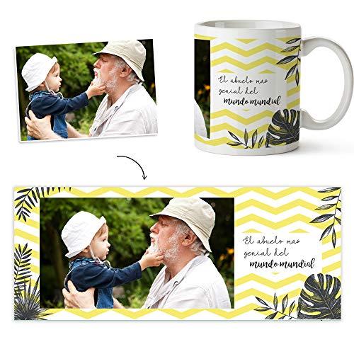 Fotoprix Taza para Abuelo Personalizada con Foto | Regalo Original día del Abuelo | Varios diseños Disponibles (Abuelo)