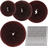 Teenitor 4pcs Hair Bun Maker-Brown