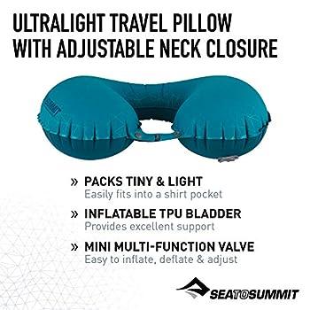 SEA TO SUMMIT Aeros Ultralight Pillow Traveller Oreiller de Montagne, Alpinisme et Trekking, Adultes, Unisexe, Gris (Grey), Taille Unique