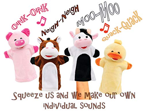 Animal House Talking Animal Hand Puppets by Includes (4) Hand Puppets, Each With