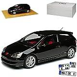 DNA Collectibles Hon-da Civic Type-R EP3 Schwarz 3 Türer 7. Generation 2000-2005 1/18 Modell Auto...