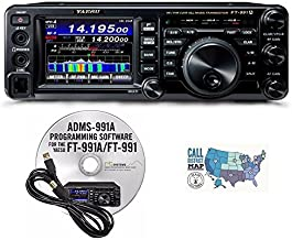 Bundle - 3 Items: Includes Yaesu FT-991A HF/VHF/UHF All-Mode Transceiver with RT Systems Programming Software/Cable Kit and Ham Guides TM Quick Reference Card!!