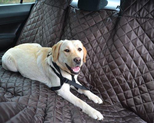 tierlando Autoschondecke MAX Auto Hundedecke Schutzdecke 160 180 200cm x 140cm Größe: SM 180 cm | Farbe: 01 Braun