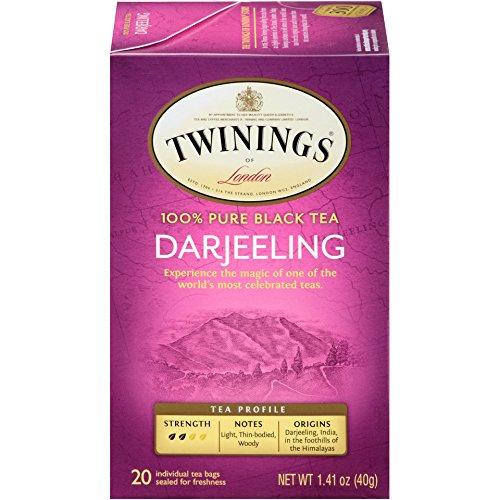 Twinings of London Darjeeling Tea Bags, 20 Count (Pack of 6)
