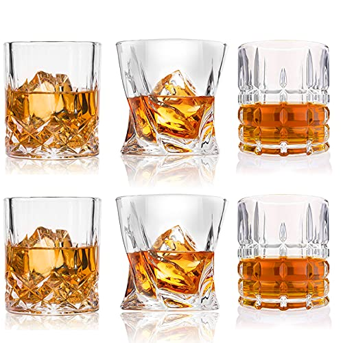 Whiskey Glasses-Premium 10, 11 OZ Scotch Glasses Set of 6 /Old Fashioned Whiskey Glasses/Style...
