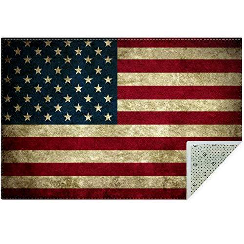 Bennigiry Teppich, weich, mit USA-Flagge, rutschfest, groß, für Wohnzimmer, Schlafzimmer, Spielzimmer, 152 x 8 cm, Polyester, multi, 150x100cm/59x39in