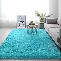 柔らかく厚いカーペットのリビングルームのベッドルームエリアラグマット、居間の家の装飾のための毛むくじゃらのぬいぐるみカーペット,G-100X200cm