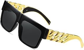 Cadena de metal dorado Kim Kardashian Beyonce Hip Hop Gafas de sol