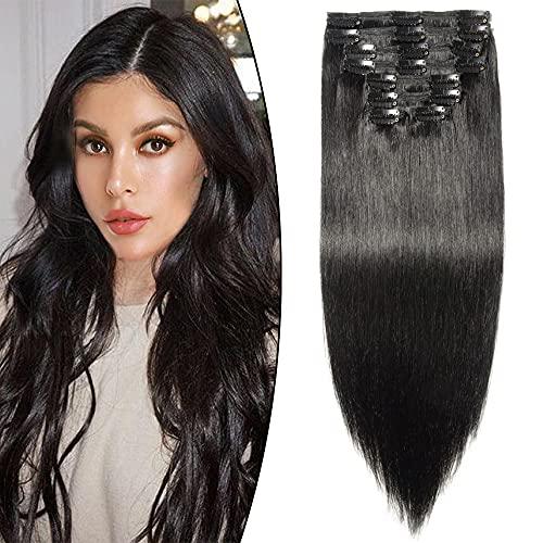 Extension di capelli umani a doppia trama, con clip,...