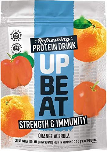 Upbeat Protein Powder Strength & Immunity Orange Acerola