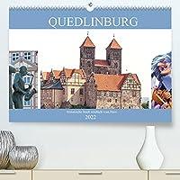 Quedlinburg - historische Stadt noerdlich vom Harz (Premium, hochwertiger DIN A2 Wandkalender 2022, Kunstdruck in Hochglanz): Quedlinburg - mittelalterliche Stadt (Monatskalender, 14 Seiten )