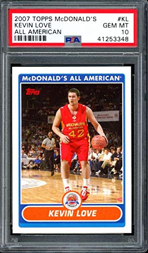 Kevin Love Rookie Card 2007 Topps Mcdonald's All American #KL PSA 10