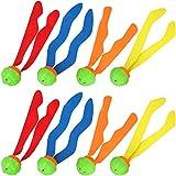 com-four 8X Tauchball, Tauchspiel-Set aus Bällen Tauch-Set für Kinder, um das Tauchen zu Lernen...