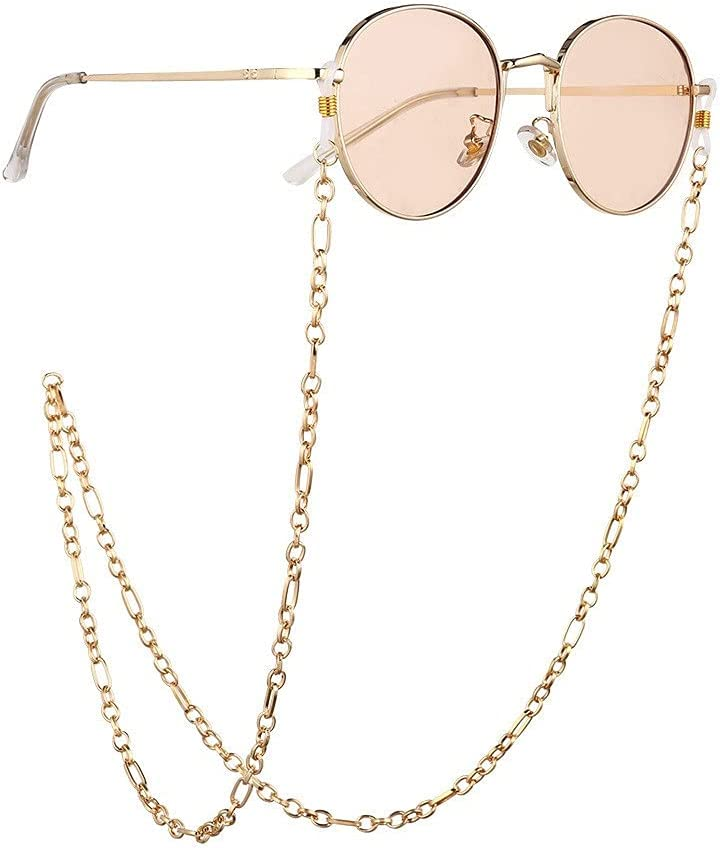 YFQHDD Chain Link Buckle Cords Reading Glasses Chain Fashion Women Sunglasses Accessories Lanyard Hold Straps (Color : A, Size : Length-70CM)