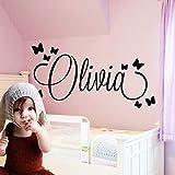 Personalisierte Wandaufkleber Kunst Aufkleber Baby Wandaufkleber für Kinder Mädchen Jungen Jungen Raumdekoration Wandaufkleber42X53CM