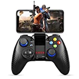 Mobiler Gamecontroller, PowerLead Gaming Controller für handy, Wireless Gamepad Hervorragend geeignet für PUBG & More. Unterstützt iOS Android iPhone iPad Samsung Galaxy