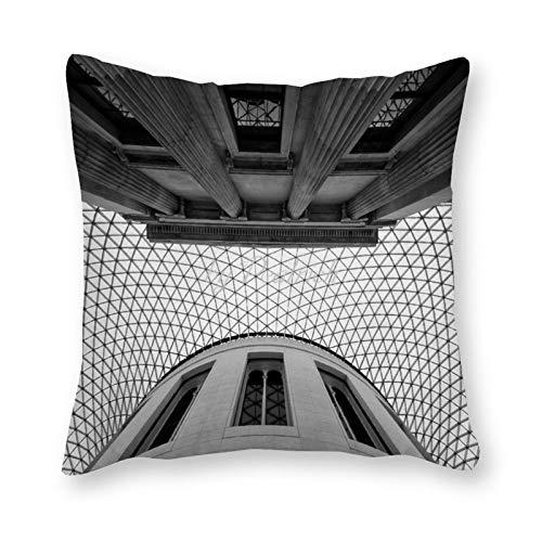 Viowr22iso - Federa decorativa per cuscino, motivo: British Museum UK London History FramHouse, 55,9 x 55,9 cm