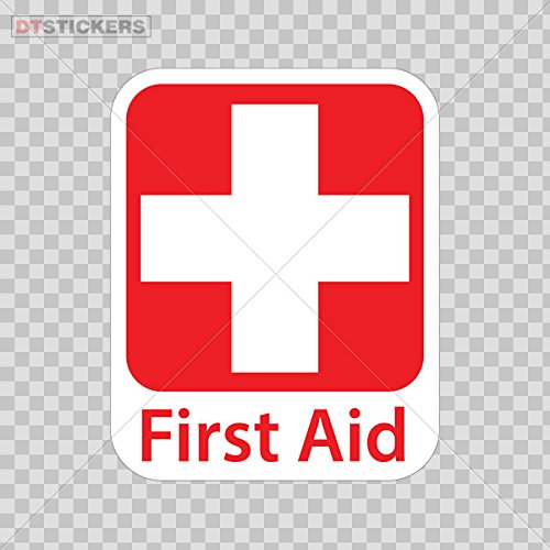 Decal Emergency First Aid Kit Safety Sign Sticker Decal Vinyl Red Cross Car Window Jet Ski D217 8XDF2