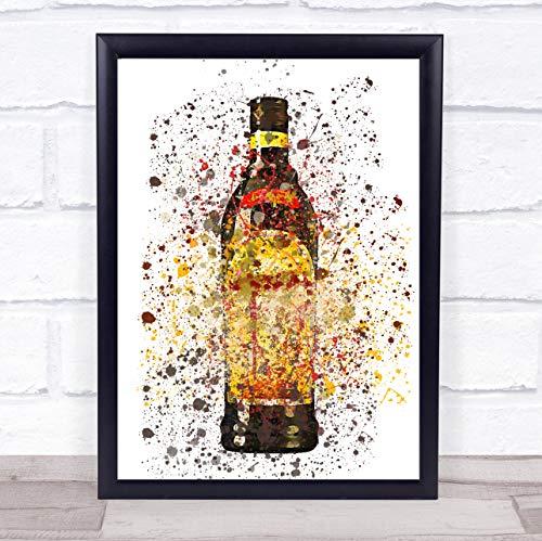 Donkere koffie likeur fles muur kunst ingelijst Print Framed Rose Gold Medium