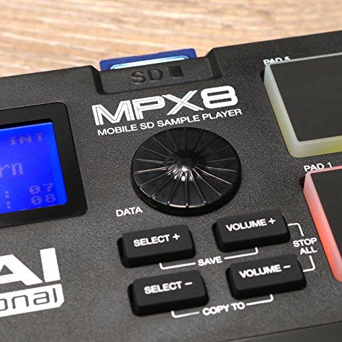 AkaiProfessionalサンプラー8パッドSDカードスロットMPX8