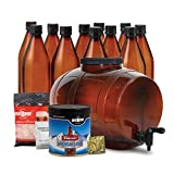 Mr. Beer American Light Homebrewing Craft Making Kit with All Grain Extract Beer Refill and Convenient 2 Gallon Fermenter