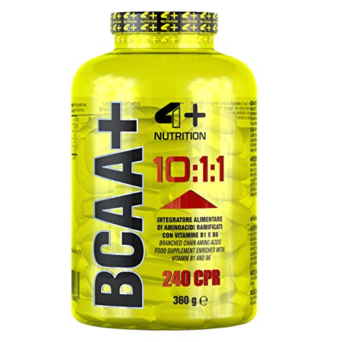 4 Sport Nutrition BCAA + 10:1:1 Package of 1 x 240 Tablets - Amino Acid with Vitamins