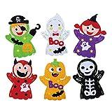 STOBOK 6 pcs Enfants kit de Couture et Artisanat de poupée crâne, Halloween, Fabrication de matériaux de...
