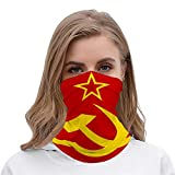 BLESFEST USSR Flag Soviet Union Flag Unisex Multifunctional Bandana Neck Gaiter Tube Headkerchief Headwear, Outdoors Sports Motorcycle Face Mask Bandana Headband for Men Women Face Scarf