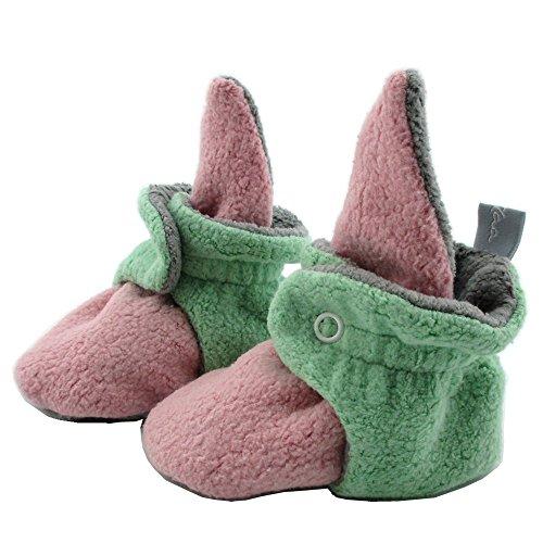 SmukkeDesign SmukkeDesign Baby Bootie Babyschuh Krabbelschuh Lauflernschuh Babybooties für Mädchen und Jungen NEU rosa Mint (6M)