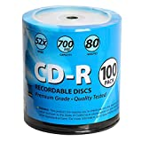 Windata CD-R Discs 100 Pack 52x 700MB/80 Minute Blank Data Recordable Media - 100-Pack Wrap